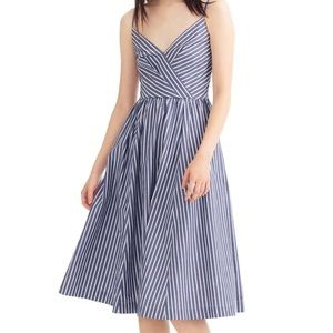J. CREW   NWOT Shirting Striped Midi Dress